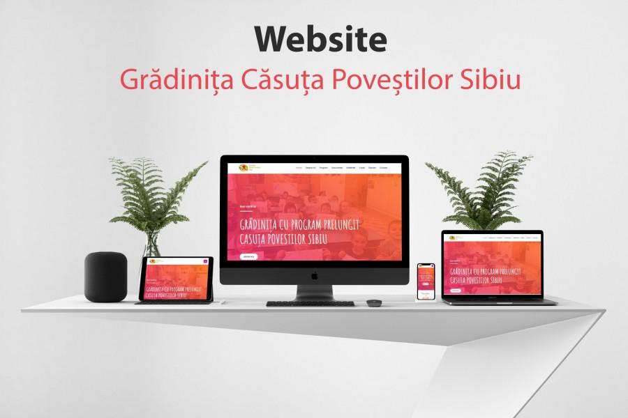 Realizare website pentru Gradinita Casuta Povestilor Sibiu.