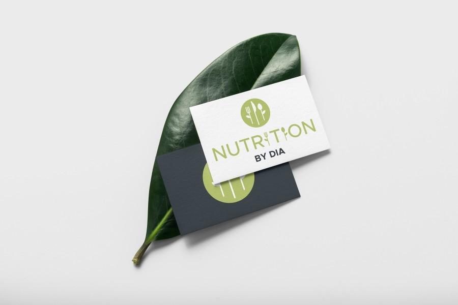 Nutrition by DIA logo design sibiu